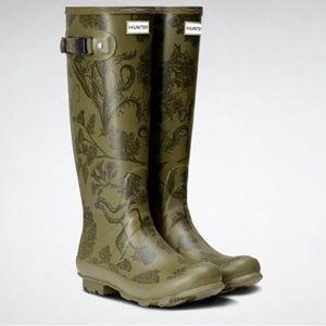 Hunter Norris Field Printed Rain Boots